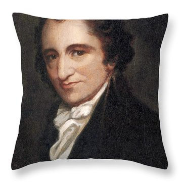 Thomas Paine, American Founding Father Throw Pillow by Photo Researchers
