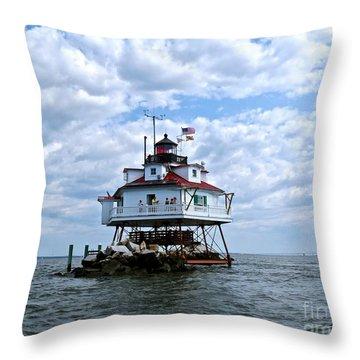Thomas Point Lighthouse Throw Pillow