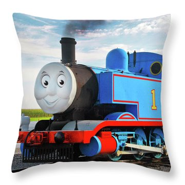 Thomas The Train Throw Pillow by Paul W Faust -  Impressions of Light