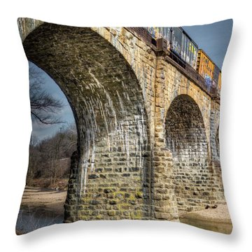 Throw Pillow featuring the photograph Thomas Viaduct Panoramic by Dennis Dame