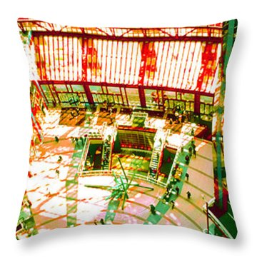 Throw Pillow featuring the photograph Thompson Center by Tom Jelen