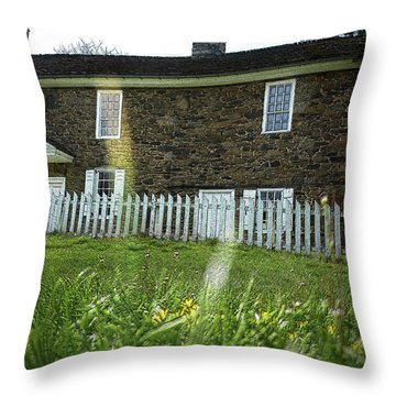 Throw Pillow featuring the photograph Thompson Neely House @ Washington Crossing State Park by Emanuel Tanjala
