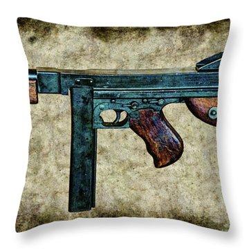 Thompson Sub-machine Gun 1944 Throw Pillow