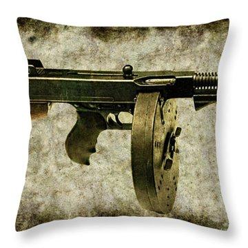 Thompson Submachine Gun 1921 Throw Pillow
