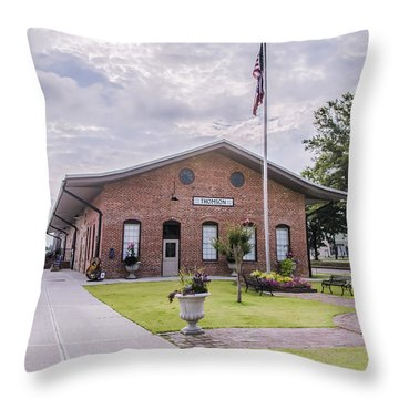 Throw Pillow featuring the photograph Thomson Georgia #smalltown by Andrea Anderegg