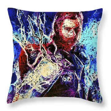 Thor Charged Up Throw Pillow