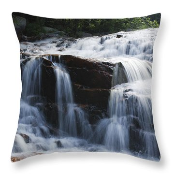 Thoreau Falls - White Mountains New Hampshire Usa Throw Pillow by Erin Paul Donovan