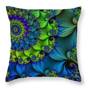 Thorn Flower Throw Pillow