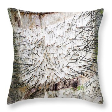 Thorn Tree Throw Pillow by Aivar Mikko