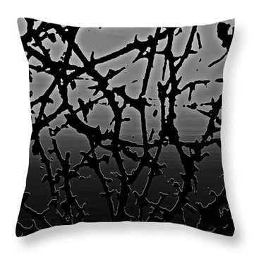 Thorned Throw Pillow