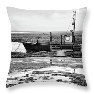 Thornham Harbour, North Norfolk Throw Pillow by John Edwards