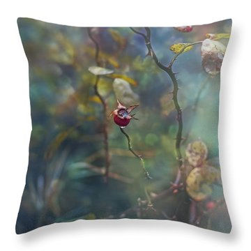 Thorns And Roses Throw Pillow by Agnieszka Mlicka