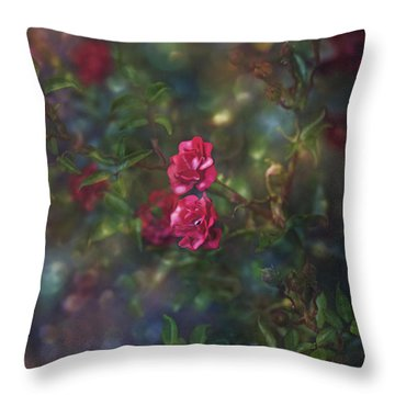 Thorns And Roses II Throw Pillow by Agnieszka Mlicka