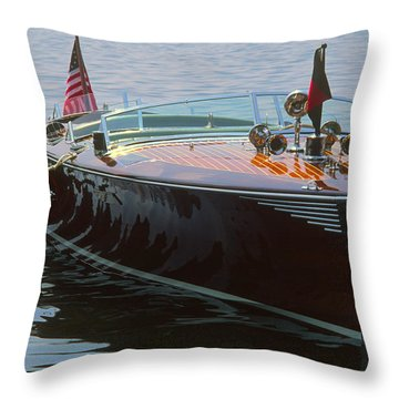 Thoroughbred - Lake Geneva Wisconsin Throw Pillow