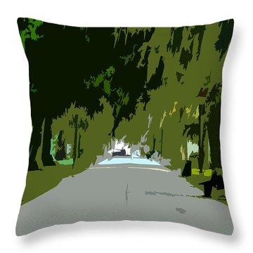 Thoroughfare Throw Pillow by David Lee Thompson