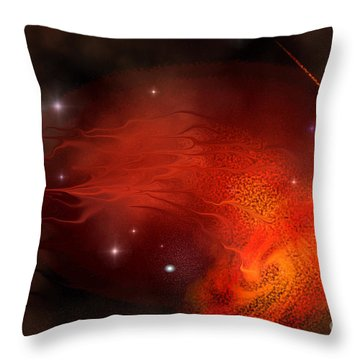 Thor's Gate Throw Pillow by Corey Ford