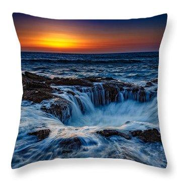Thor's Well Throw Pillow by Rick Berk