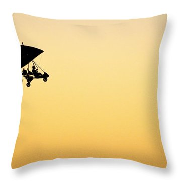 Those Magnificent Men In Their Flying Machines Throw Pillow by AJ  Schibig