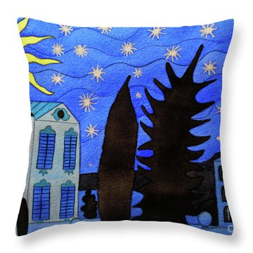 Those Romantic Nights Throw Pillow