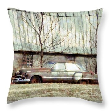 Throw Pillow featuring the photograph Those Were The Days - 49 Buick Roadmaster by Janine Riley