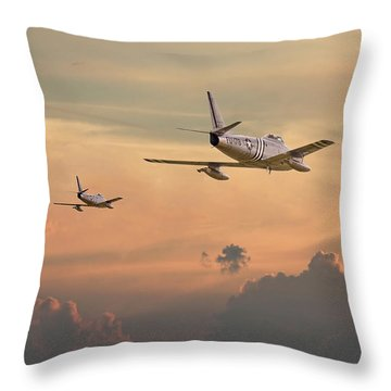 'those Were The Days......' Throw Pillow by Pat Speirs