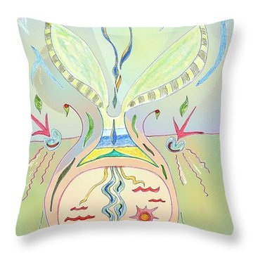 Thought Seed Throw Pillow