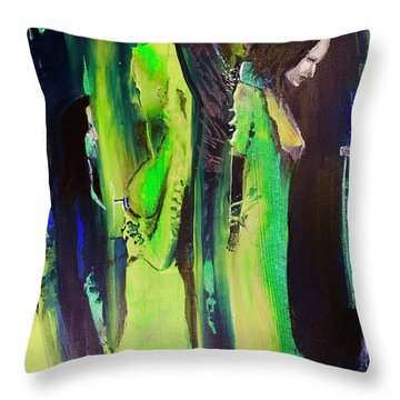 Thoughtful Gathering Throw Pillow