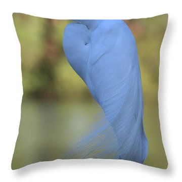 Thoughtful Heron Throw Pillow