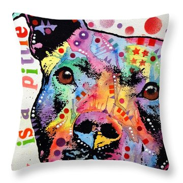 Pitbull Throw Pillows