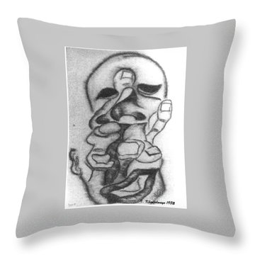 Thoughts And Thinking  Throw Pillow