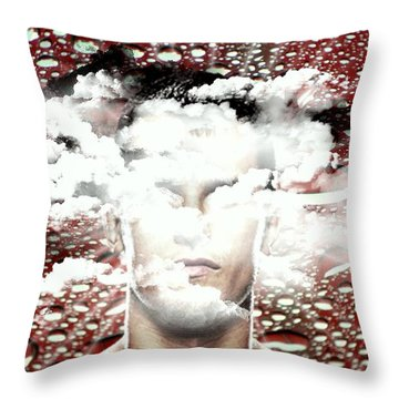 Thoughts Are Like Clouds Passing Through The Sky Throw Pillow