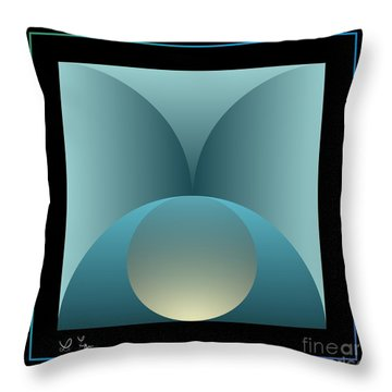 Thoughts Observation Throw Pillow by Leo Symon