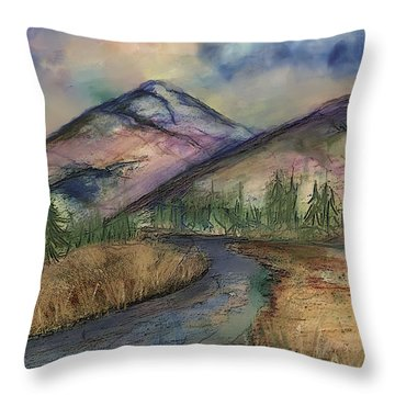 Thoughts Of Glacier Throw Pillow