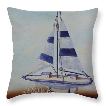 Thoughts Of Sea Throw Pillow