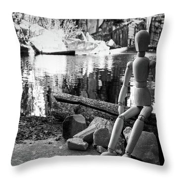 Thoughts Reflected Throw Pillow