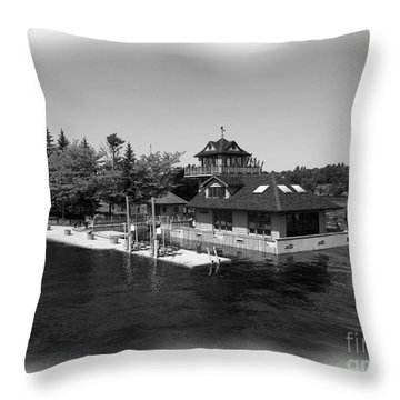 Thousand Islands In Black And White Throw Pillow