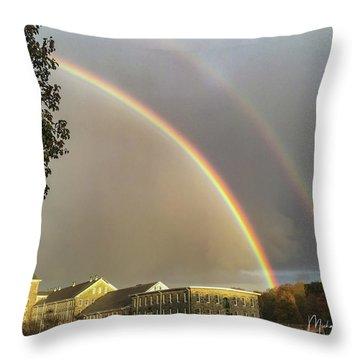 Thread City Double Rainbow  Throw Pillow