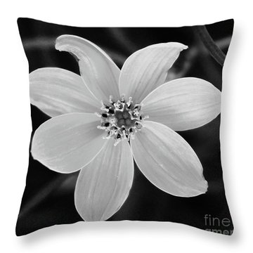 Threadleaf In Black And White Throw Pillow