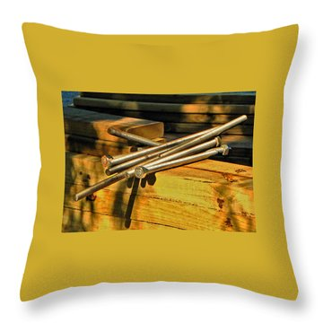Threads And Grains Throw Pillow