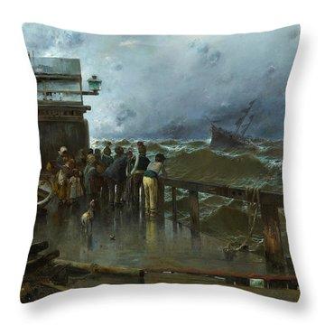 Threat Of Shipwreck Throw Pillow