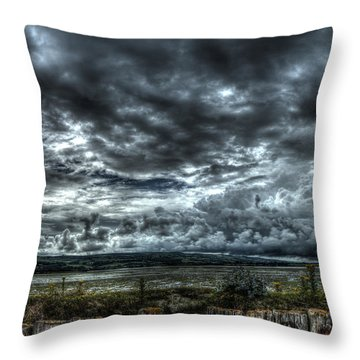Threatening Sky Throw Pillow
