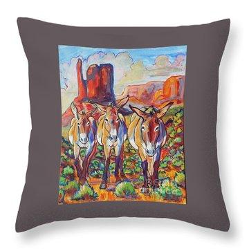 Three Amigos  Throw Pillow by Jenn Cunningham