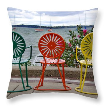 Three Amigos Throw Pillow by Linda Mishler