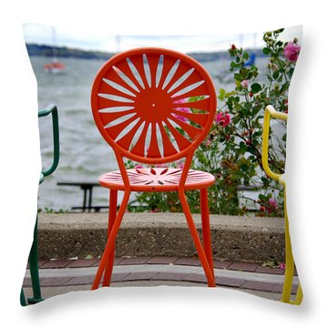 Three Amigos Ll Throw Pillow by Linda Mishler