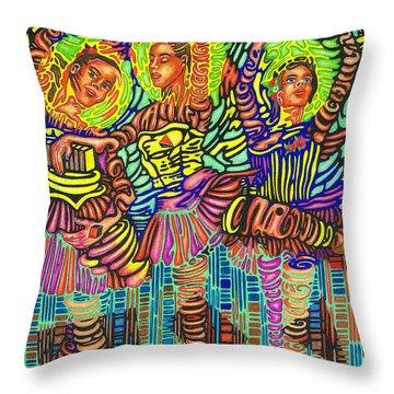 Three Ballerinas Throw Pillow