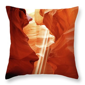 Throw Pillow featuring the photograph Three Beams by Norman Hall