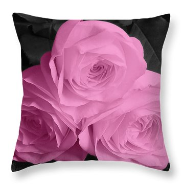 Three Beauties Throw Pillow