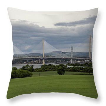 Three Bridges Over The Forth Throw Pillow