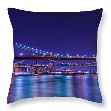 Three Bridges Throw Pillow