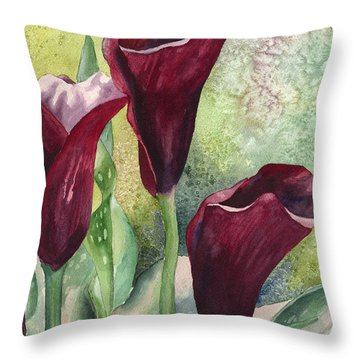 Three Callas Throw Pillow